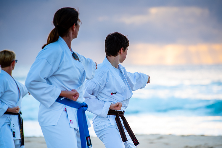 QLD Karate Camp - Beach TRaining